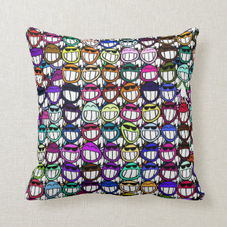 Toothy Grinning Faces, Smiling Faces, Happy Faces Throw Pillow