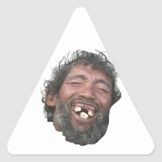 Toothy Man Triangle Sticker