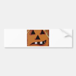 Toothy Pumpkin Car Bumper Sticker