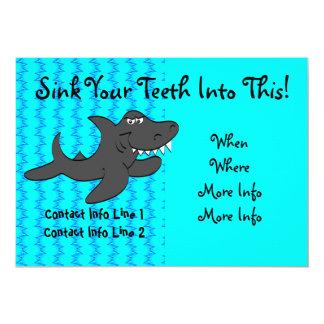 Toothy Shark Invite