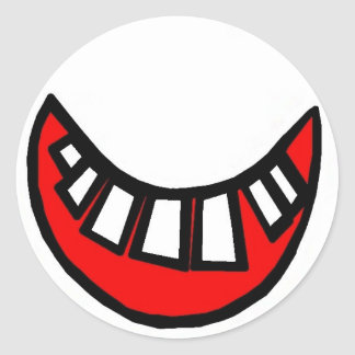 toothy smile large sticker