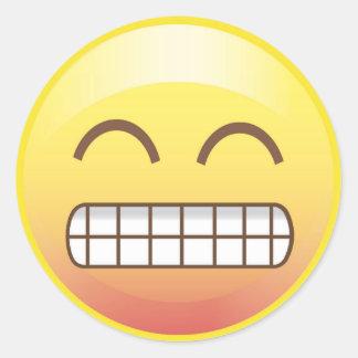 Toothy Smile Yellow Emoji Sticker