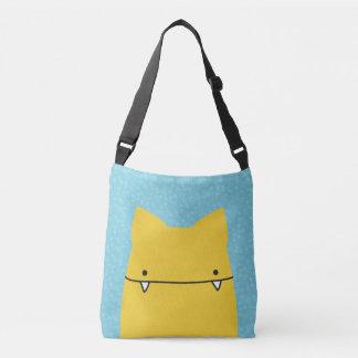 Toothy Yellow Cat Totebag Crossbody Bag