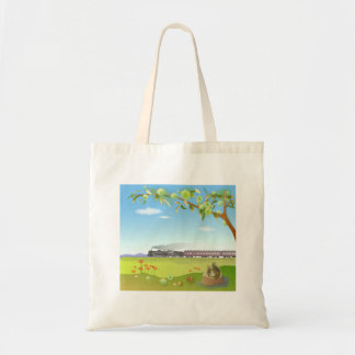 tootobatsugu where illustration of the scenery of  tote bag