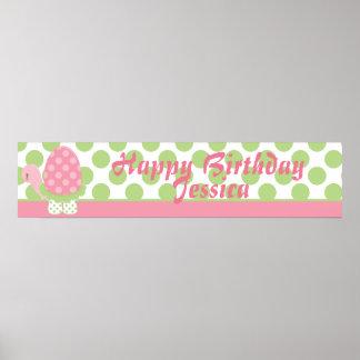 Tootsie Turtle Birthday Banner-1 Poster