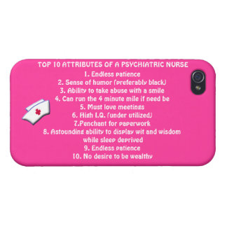 Top 10 Attributes of a Psych. Nurse+nurse cap/Pink Covers For iPhone 4