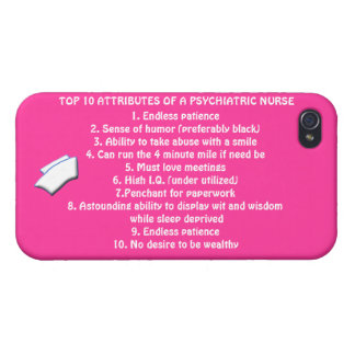 Top 10 Attributes of a Psych. Nurse+nurse cap/Pink Cover For iPhone 4