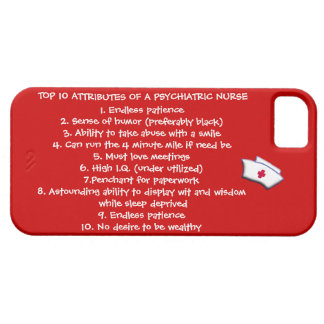 Top 10 Attributes of a Psychiatric Nurse-Humor iPhone 5 Covers