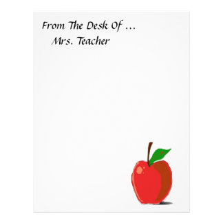 Top 10 Award! From The Desk Of..Apple Stationery Letterhead
