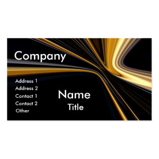 Top 10 Award! Gold On Black Business Cards