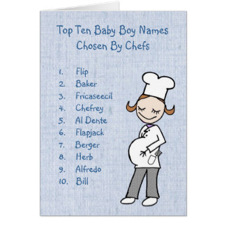 Top 10 Boy Names Chosen By Chefs Cards
