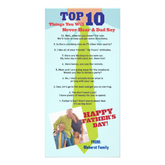 Top 10 Father's Day Photo Invitation Card
