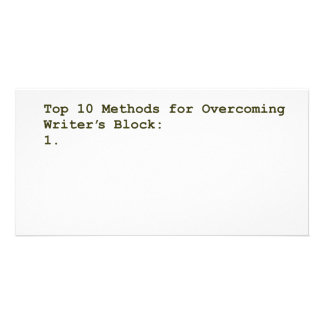 Top 10 Methods for Overcoming Writer's Block Photo Card Template