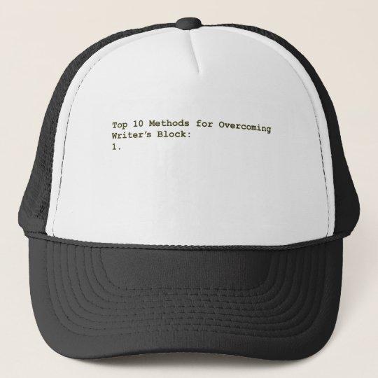 Top 10 Methods for Overcoming Writer's Block Trucker Hat