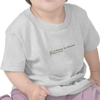 Top 10 Methods for Overcoming Writer's Block T-shirts