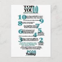 Top 10 PCOS Reasons Postcard