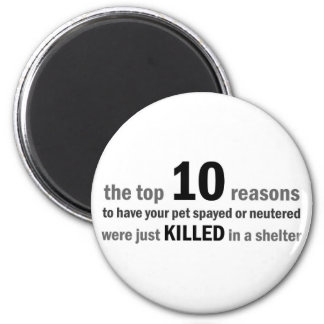 Top 10 Reasons to Spay or Neuter Magnet