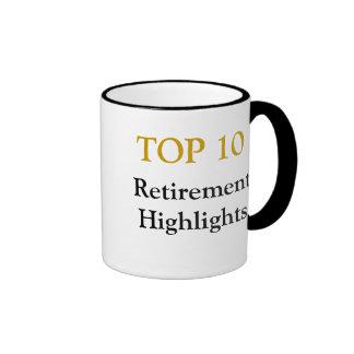 Top 10 Retirement Highlights - Retirement Joke Ringer Mug
