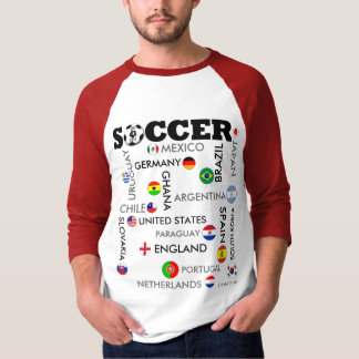 Top 16 Country Flag T-Shirt World Cup
