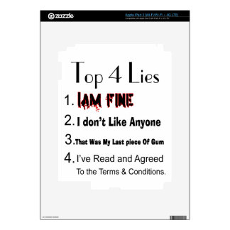 Top 4 Lies Decal For iPad 3