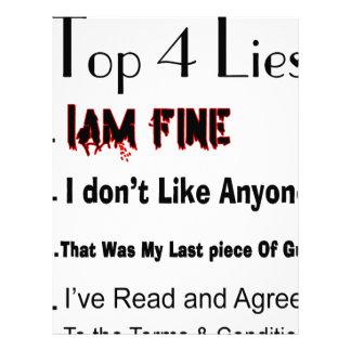 Top 4 Lies Letterhead