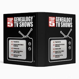 Top 5 Genealogy TV Shows 3 Ring Binder