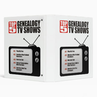 Top 5 Genealogy TV Shows Binder