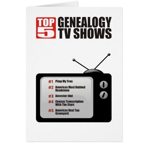 Top 5 Genealogy TV Shows Greeting Card