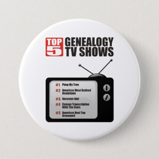 Top 5 Genealogy TV Shows Pinback Button