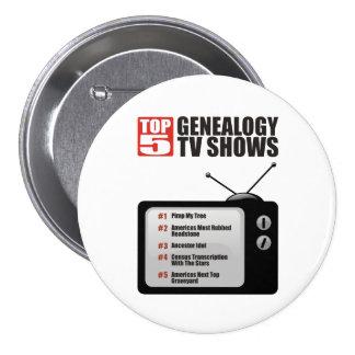Top 5 Genealogy TV Shows Pinback Button