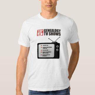 Top 5 Genealogy TV Shows Shirt
