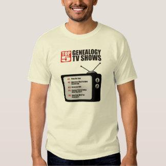 Top 5 Genealogy TV Shows T Shirt