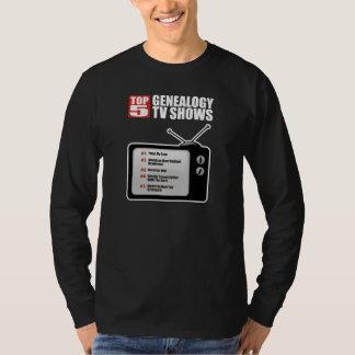 Top 5 Genealogy TV Shows Tee Shirt