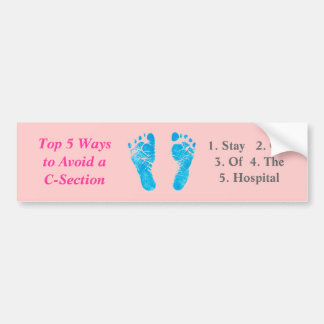 Top 5 Ways to Avoid a C-Section / Footprint Bumper Sticker