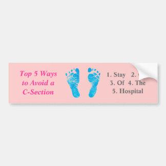 Top 5 Ways to Avoid a C-Section / Footprint Bumper Sticker