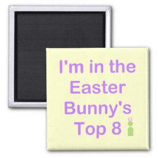 Top 8 de Pascua Bunnys Imán Cuadrado