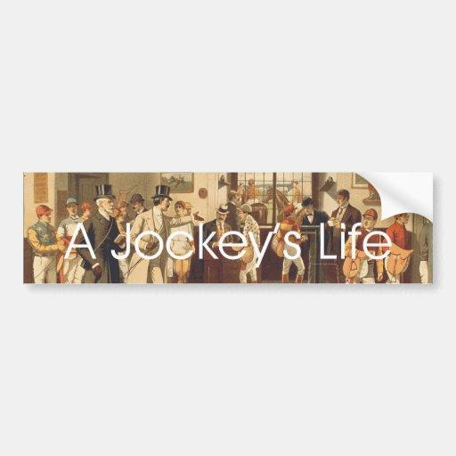 TOP A Jockey's Life Bumper Sticker