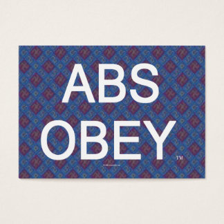 TOP Abs Obey Business Card