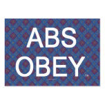TOP Abs Obey Business Card Template