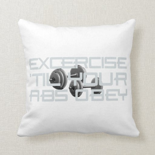 TOP Abs Obey Pillow