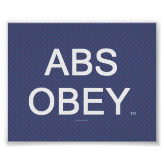 TOP Abs Obey Poster