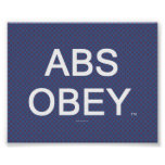 TOP Abs Obey Posters
