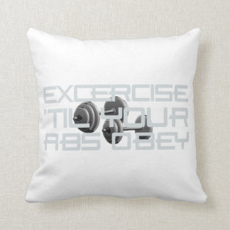 TOP Abs Obey Throw Pillow