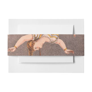 TOP Acrobat in the House Invitation Belly Band