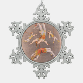 TOP Acrobat in the House Snowflake Pewter Christmas Ornament