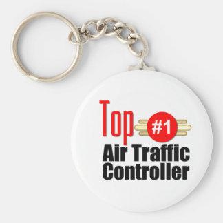 Top Air Traffic Controller Basic Round Button Keychain