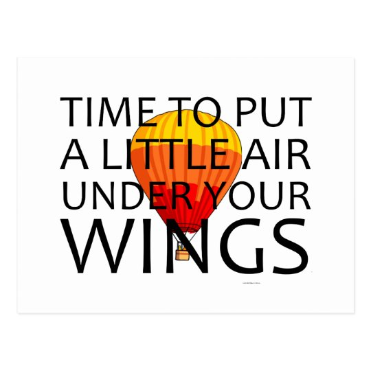 TOP Air Under Your Wings Postcard