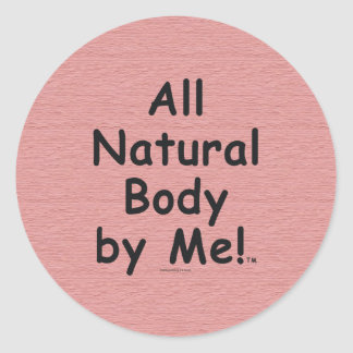 TOP All Natural Body Classic Round Sticker