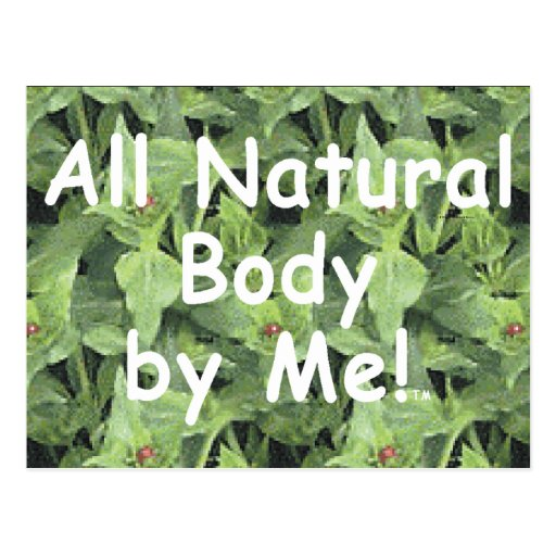 TOP All Natural Body Post Cards