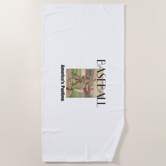 TOP America's Pastime Beach Towel